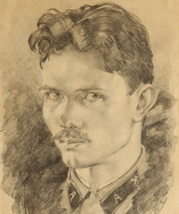Pavel Afonin, Self-Portrait, 1942