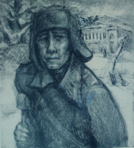 Marttila, Soldier from hospital, 1942